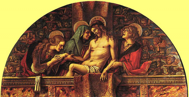 Pieta, Pinacoteca Vaticana, Rome. Carlo Crivelli