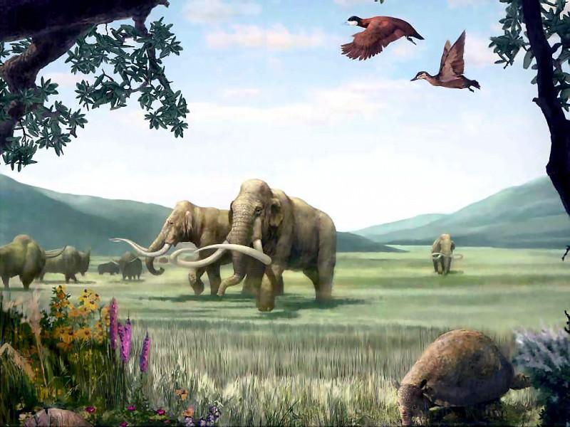 dinosaurs pleistocene. Karen Carr