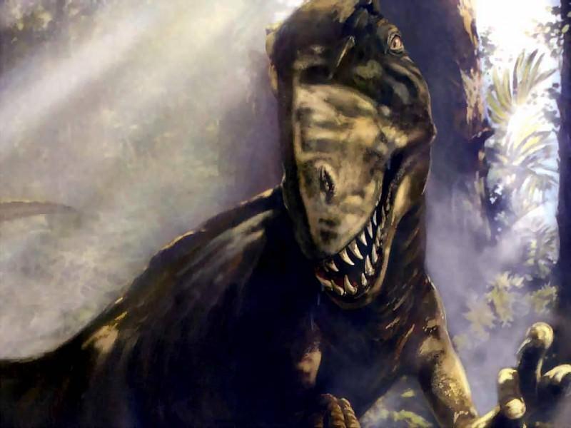 dinosaurs acrocanthosaurus atokensis. Karen Carr