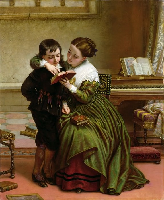 George Herbert and His Mother. Charles West Cope