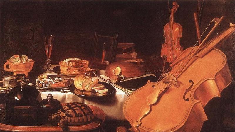 Still Life with Musical Instruments. Pieter Claesz