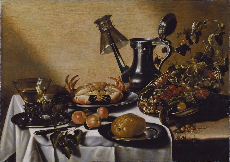 Still Life with Crab and Fruit. Pieter Claesz (After)