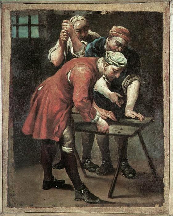 Dice Players. Giuseppe Maria Crespi