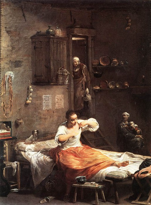 Searcher For Fleas. Giuseppe Maria Crespi