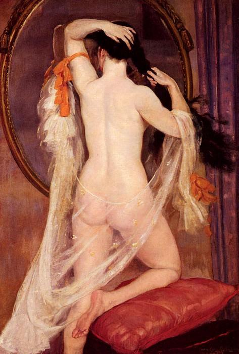 Nu Au Miroir. Henry Caro-Delvaille