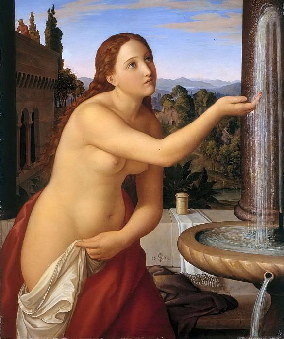 Bathsheba at her Bath. Julius Schnorr von Carolsfeld