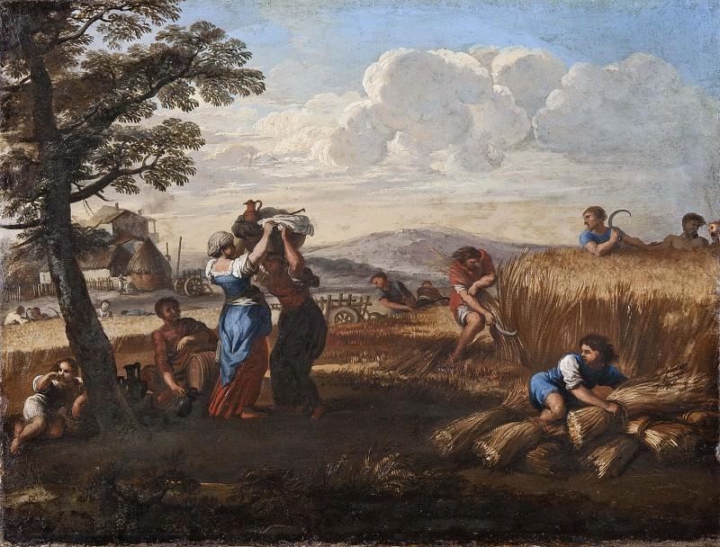 Landscape with Harvesting. Pietro da Cortona