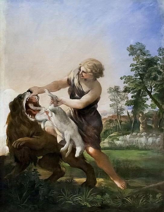 David Killing the Lion. Pietro da Cortona