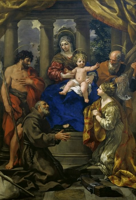 Madonna and Child with Saints. Pietro da Cortona