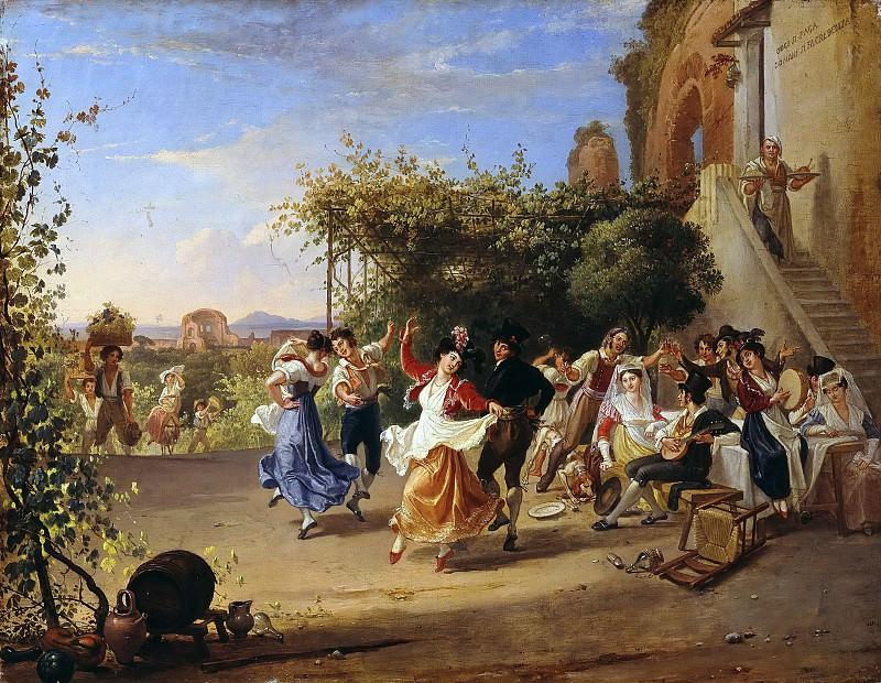 Wine Festival in the Roman Campagna. Franz Ludwig Catel