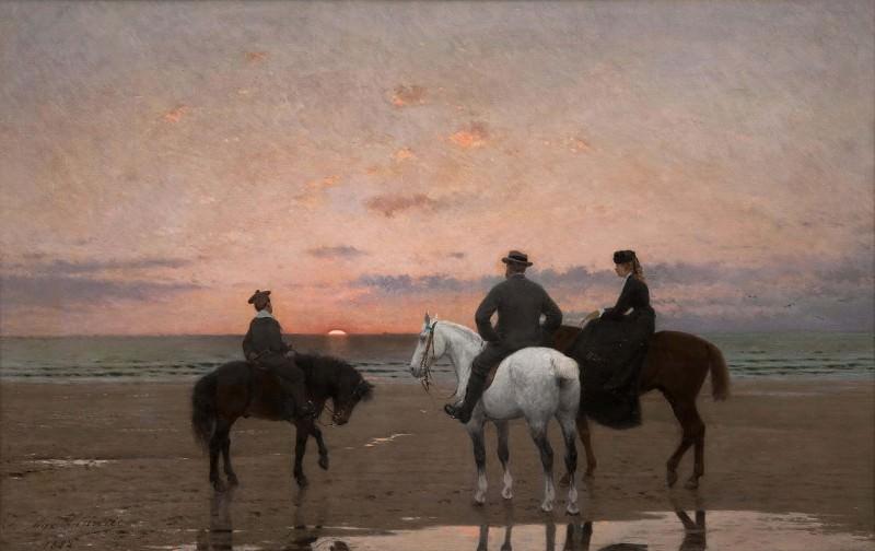 Три всадника у моря. Жан-Максим Клод