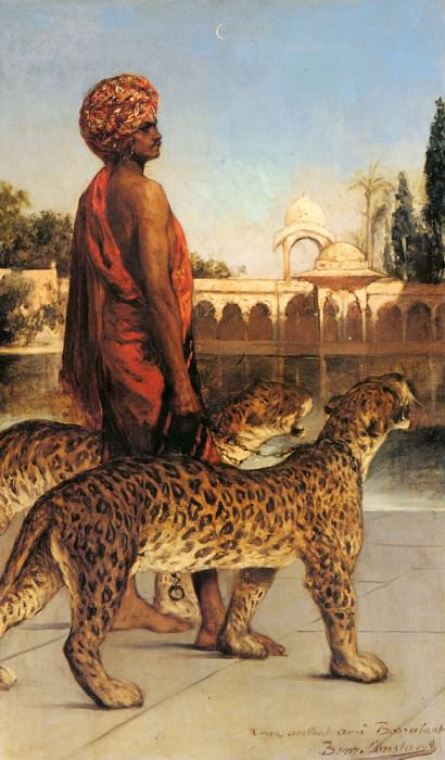 The Palace Guard With Two Leopards. Jean Joseph Benjamin-Constant