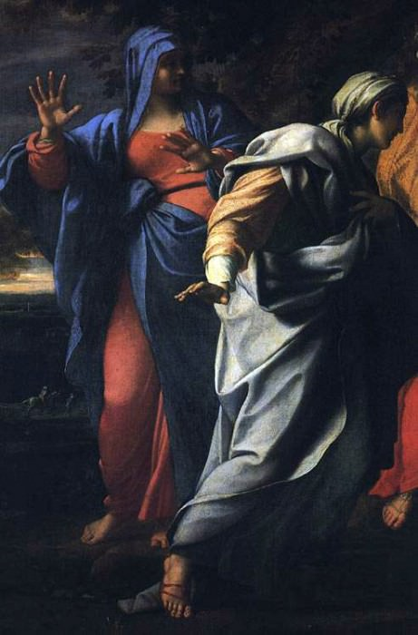 Holy Women at the Tomb of Christ detail. Annibale Carracci