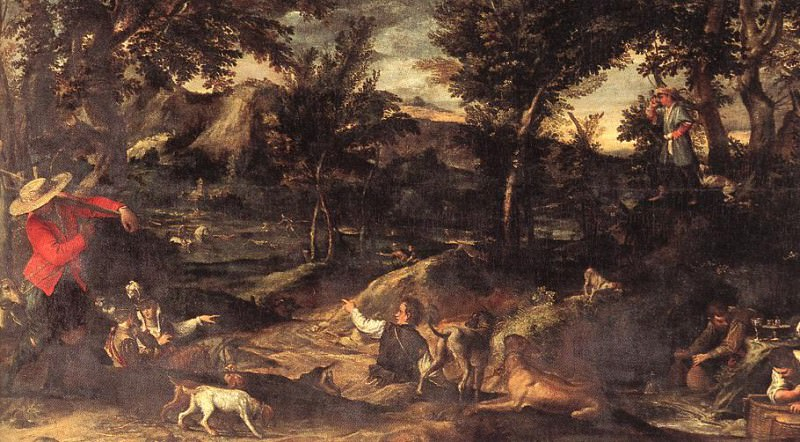 Hunting. Annibale Carracci