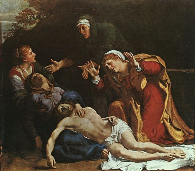 THE DEAD CHRIST MOURNED, APPROX. 1603. Annibale Carracci