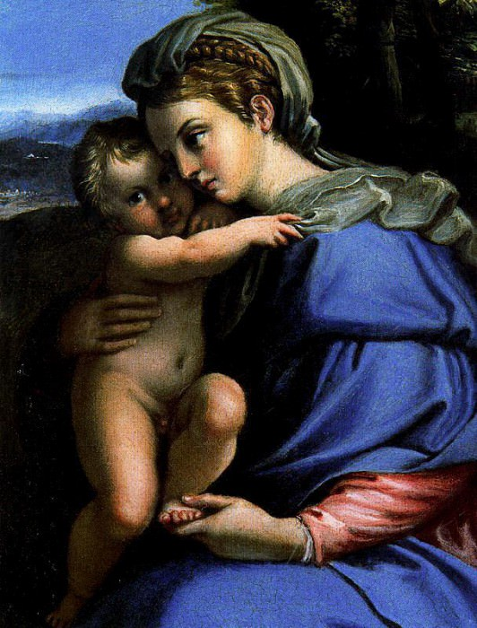 Мадонна с Младенцем. Аннибале Карраччи