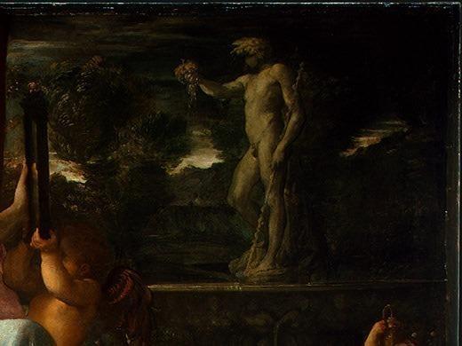 Venus Adorned by the Graces, 1590-1595, 133x170.5. Annibale Carracci