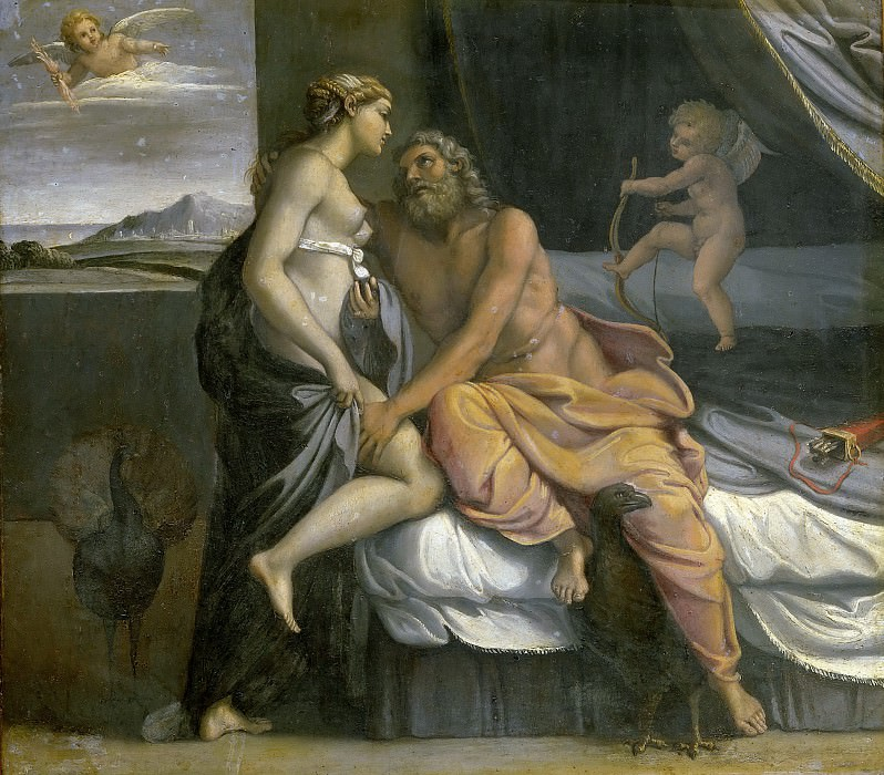 Jupiter and Juno. Annibale Carracci