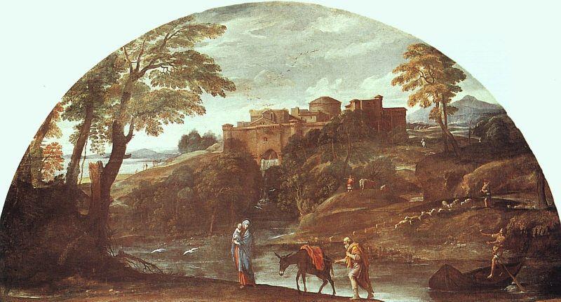 БЕГСТВО В ЕГИПЕТ, 1603. Аннибале Карраччи
