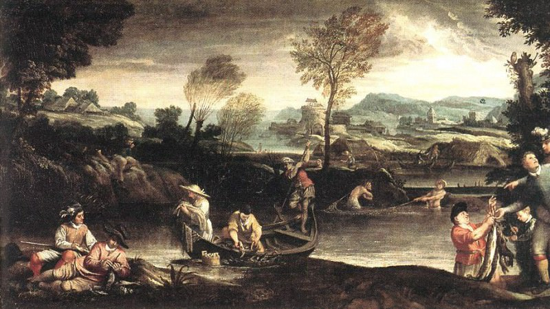 Fishing. Annibale Carracci