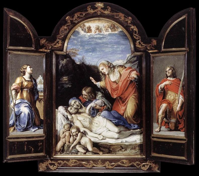 Triptych. Annibale Carracci