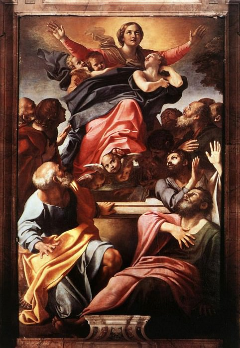 Assumption of the Virgin Mary. Annibale Carracci