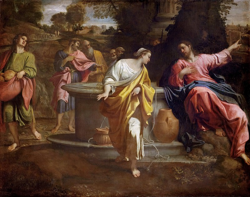 Christ and the Samaritan Woman. Annibale Carracci