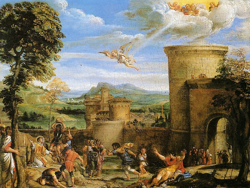 The martyre of St Steven 1603. Annibale Carracci