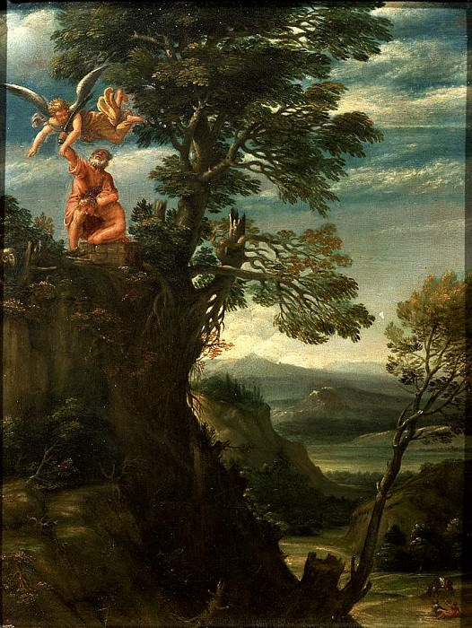 Annibale Landscape with the sacrifice of Isaac. Annibale Carracci