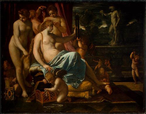 Venus Adorned by the Graces, 1590-1595, 133x170.5 c. Annibale Carracci