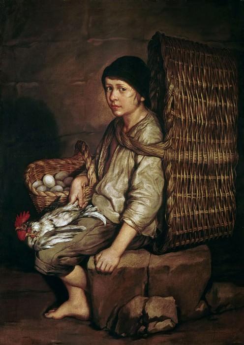 Мальчик с корзиной. Джакомо Черути