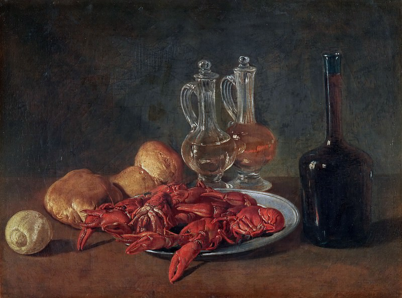 Still Life with Lobsters. Giacomo Ceruti