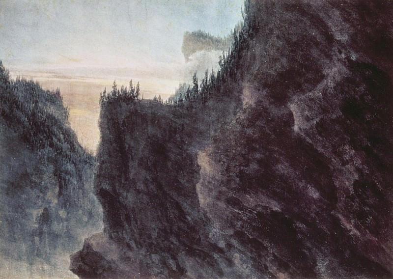 Вход в долину Гранд-Шартрез. Джон Роберт Козенс