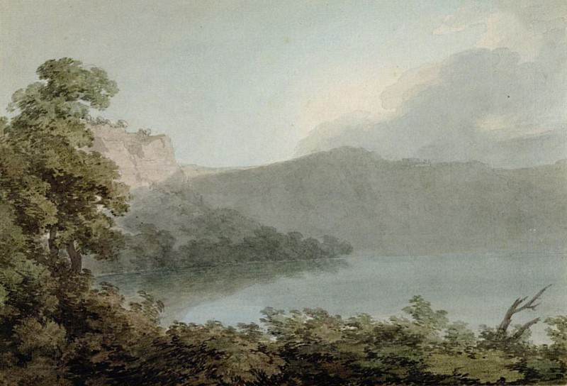 Lake of Vico Between Rome and Florence. John Robert Cozens