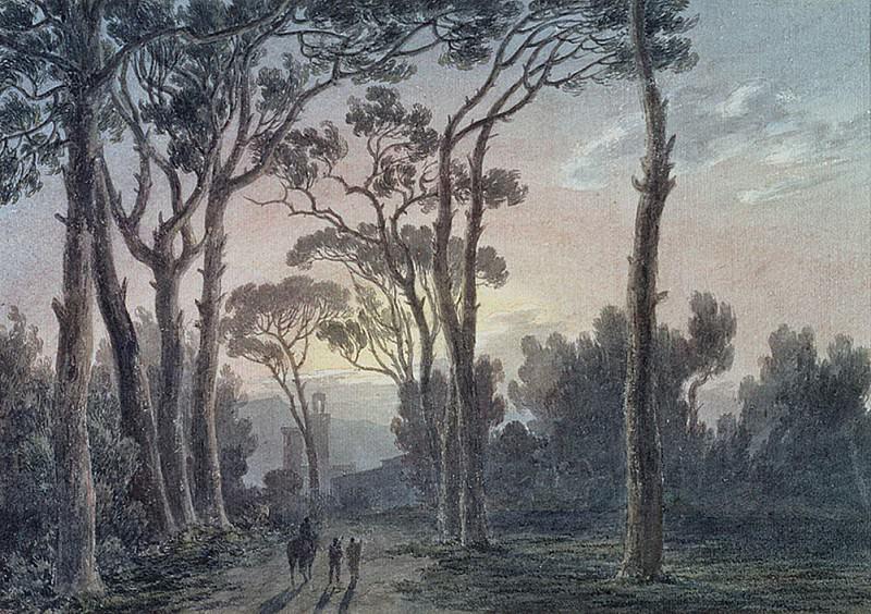 Florence from a Wood near the Cascine. John Robert Cozens