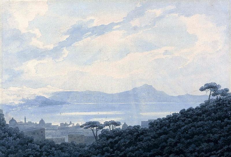 Неаполитанский залив из Каподимонте, Италия. Джон Роберт Козенс