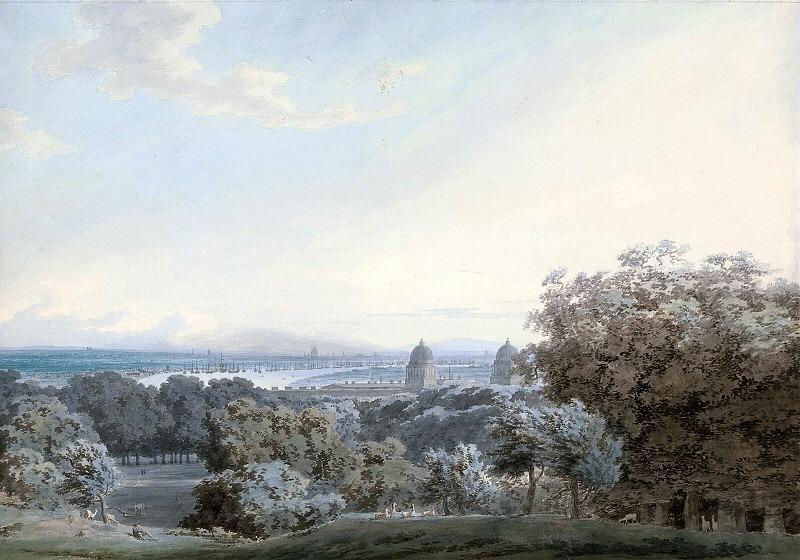 Вид на Лондон с Гринвич Хилл. Джон Роберт Козенс