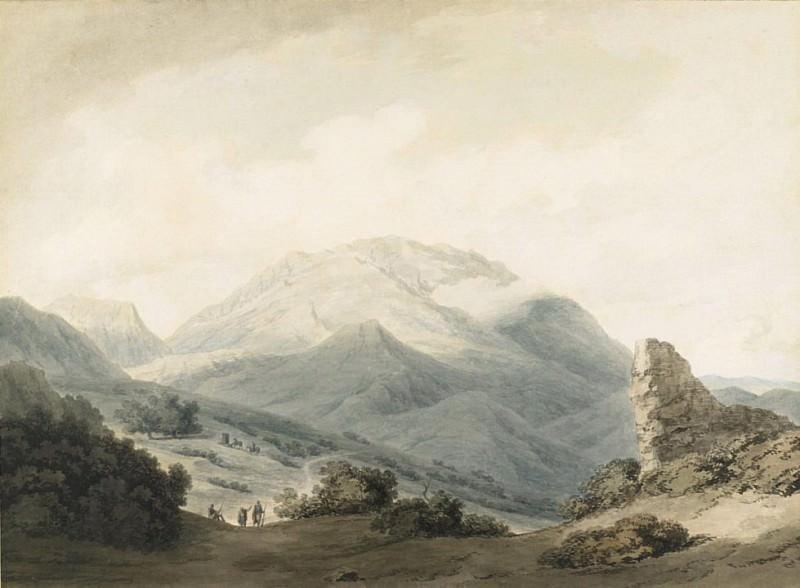 Mount Parnassus from the Road Between Livadia and Delphi. John Robert Cozens