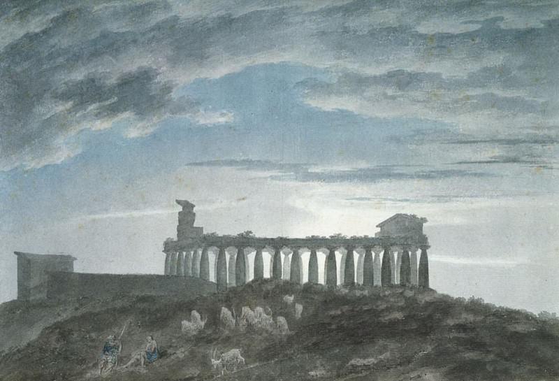 Малый храм в Пестуме. Джон Роберт Козенс