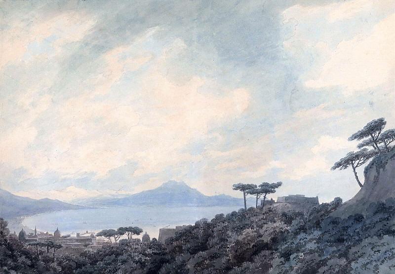 Вид на Неаполитанский залив из Каподимонте. Джон Роберт Козенс