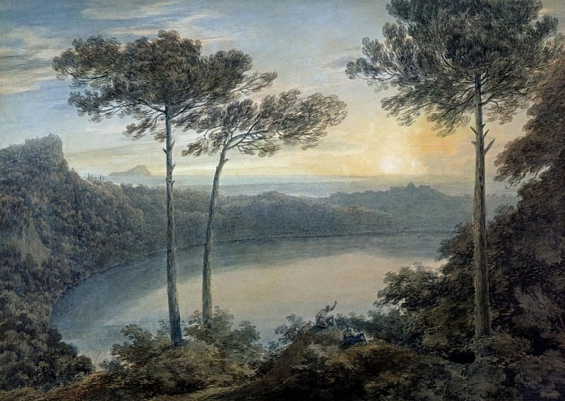 Озеро Альбано и Кастель Гандольфо. Джон Роберт Козенс