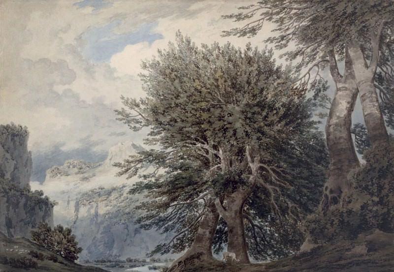 Mountainous Landscape with Beech Trees. John Robert Cozens