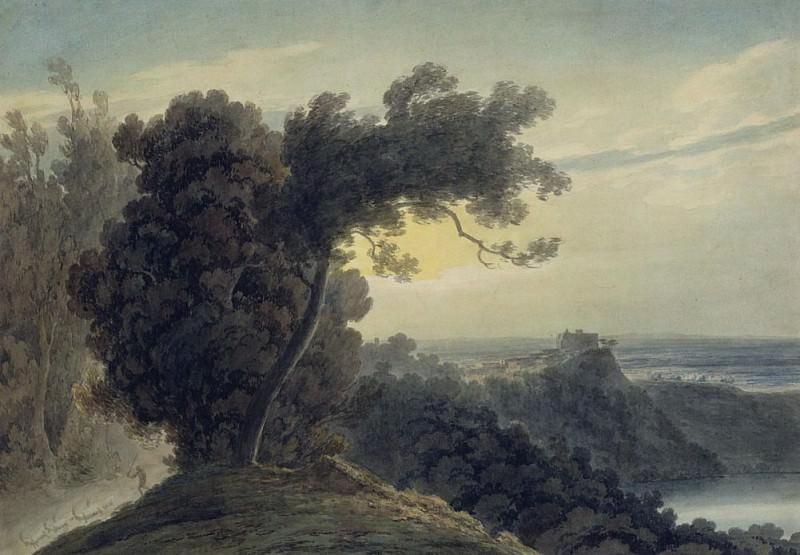 The Lake of Albano and Castle Gandolfo. John Robert Cozens