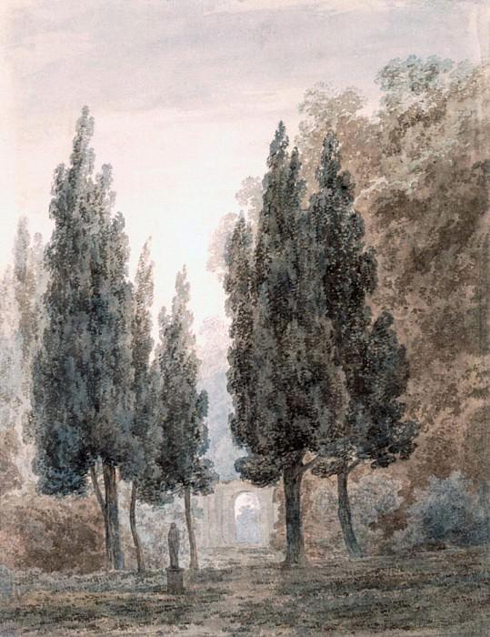 В садах виллы Памфили в Риме. Джон Роберт Козенс