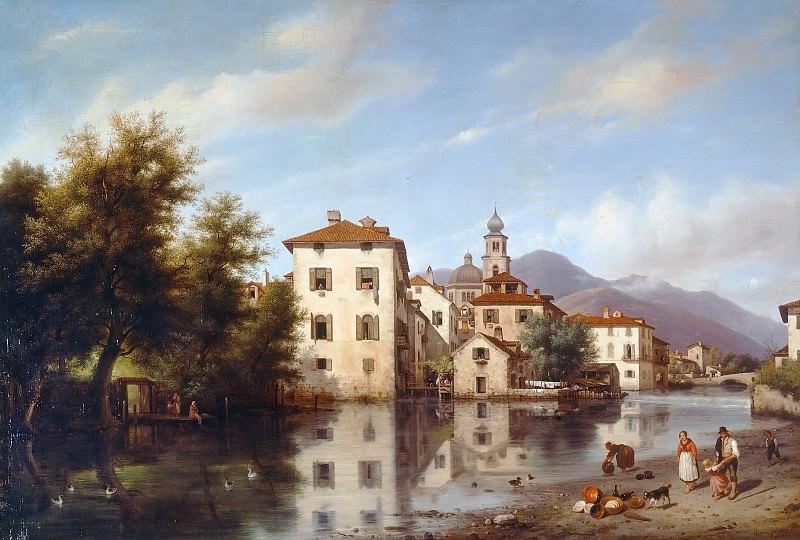 Landscape in Lombardy. Giuseppe Canella