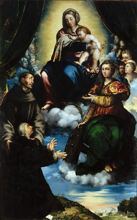 Madonna and Child with Saints. Giulio Campi
