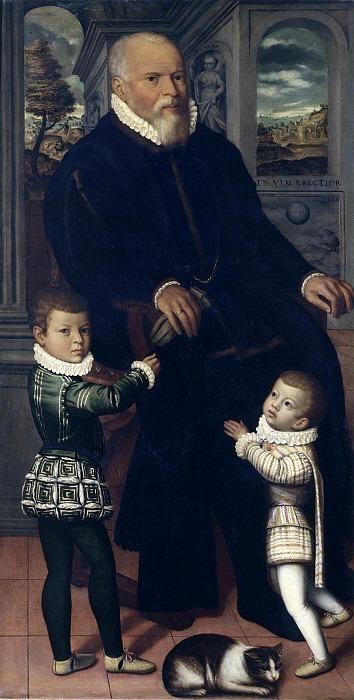 Портрет мужчины с двумя детьми. Винченцо Кампи