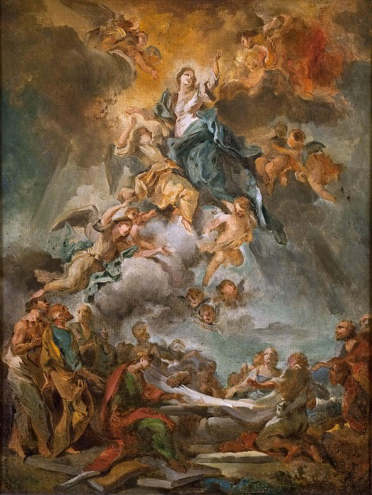 The Assumption of the Virgin. Carlo Innocenzo Carloni (Attributed)