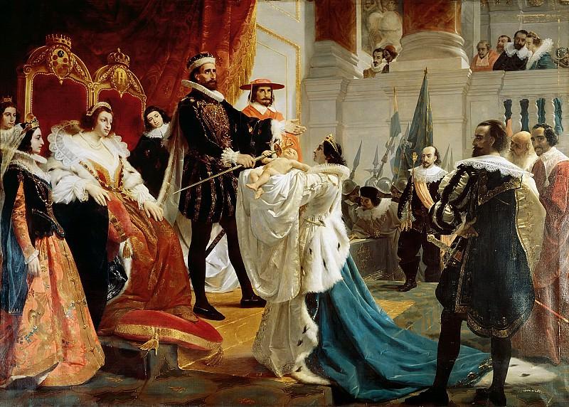 Генрих IV, вкладывающий шпагу в руки своего первенца. Агостино Кайрони