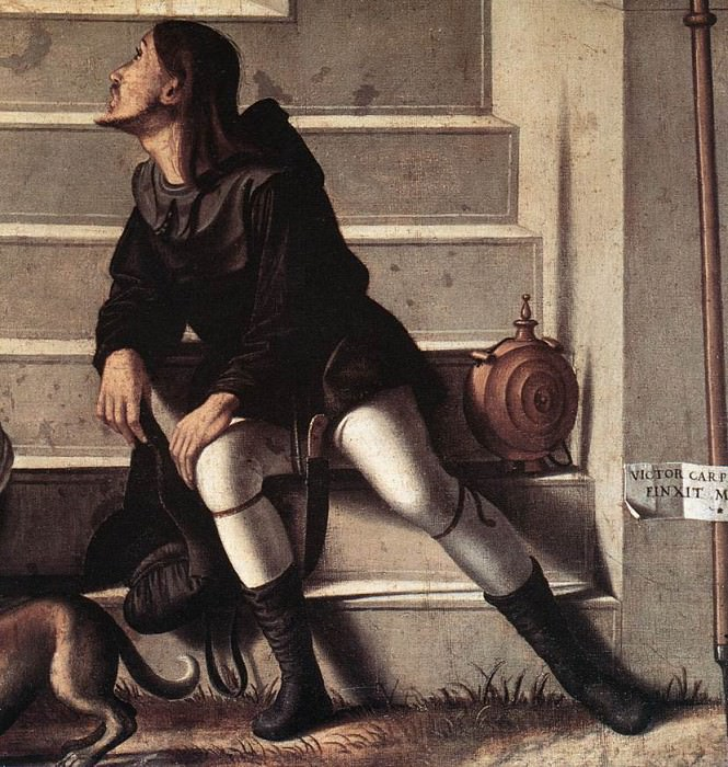 St Stephen is Consecrated Deacon detail. Vittore Carpaccio